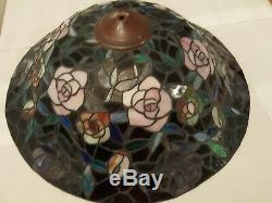 Vintage Tiffany Style Slag Glass Lamp Shade
