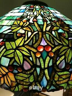 Vintage Tiffany Style Stained Glass Lamp Shade Beautiful Elegance