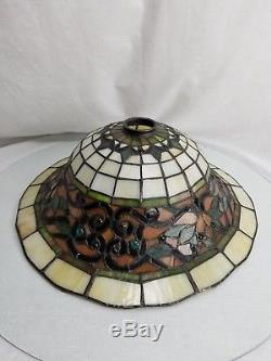 Vintage Tiffany Style Stained Gl Torchiere Floor Lamp