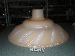 Vintage Torchiere Art Deco Lt Cream/dark Cream Swirl Glass Lamp Shade 16 D