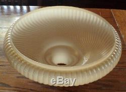 Vintage Torchiere Rib Swirl Lamp Shade 16 with 2 3/4 Fitter Antique