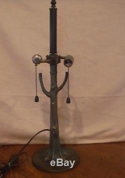 Vintage Tree Shape Base for Slag Glass Leaded Glass Lamp Shade Bradley & Hubbard