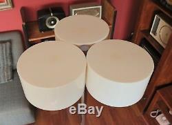 Vintage Unique MCM Retro Floor Lamp Chrome Pole & Base with 3 Circular Shades