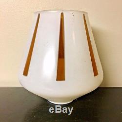Vintage VTG Set of 5 Mid Century Modern Atomic Glass Light Lamp Shades Amber HTF