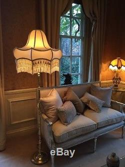 Vintage/Victorian/downtown Abbey/contemporary/traditional ivory silk Lampshade