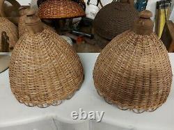 Vintage Wicker Lamp Shades