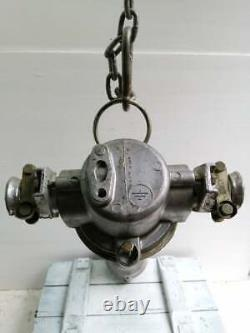 Vntg Industrial Fluorescent Explosion Proof Pendant Steampunk Lamp Made in USSR