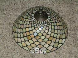 Vtg. Dale Tiffany Inc Stained Glass 12 Lamp Shade Signed Euc