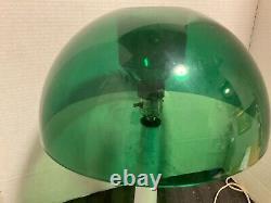 Vtg Gilbert Softlite 70s Acrylic Mushroom Lamp White Base Green Shade